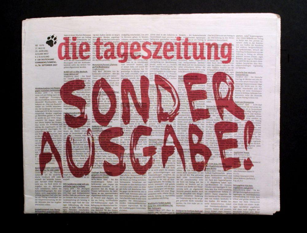 die tageszeitung - Zeitung der Zukunft - Zeitung