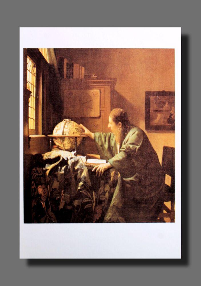 Jan Vermeer - Der Astronom - Postkarte