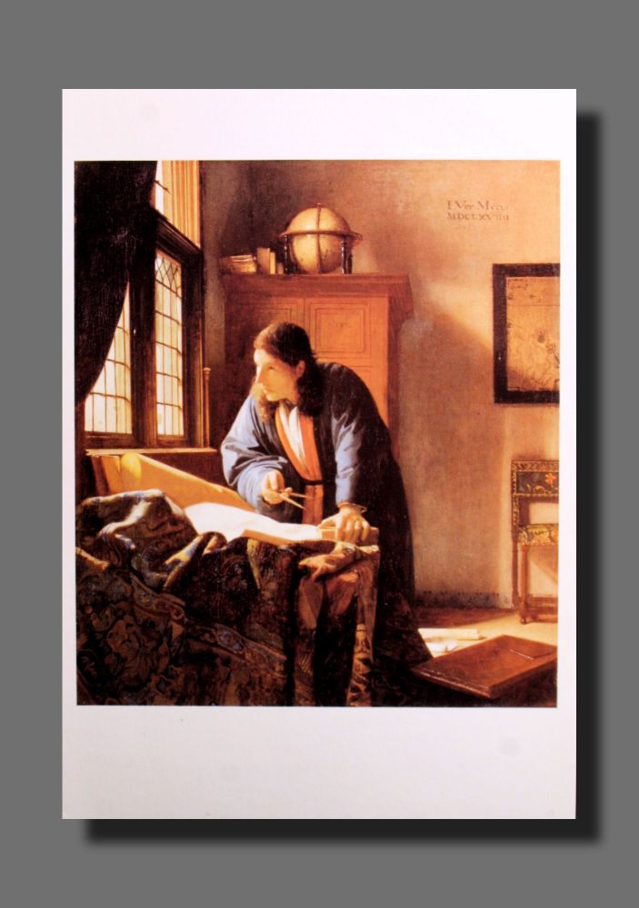 Jan Vermeer - Der Geograph - Postkarte