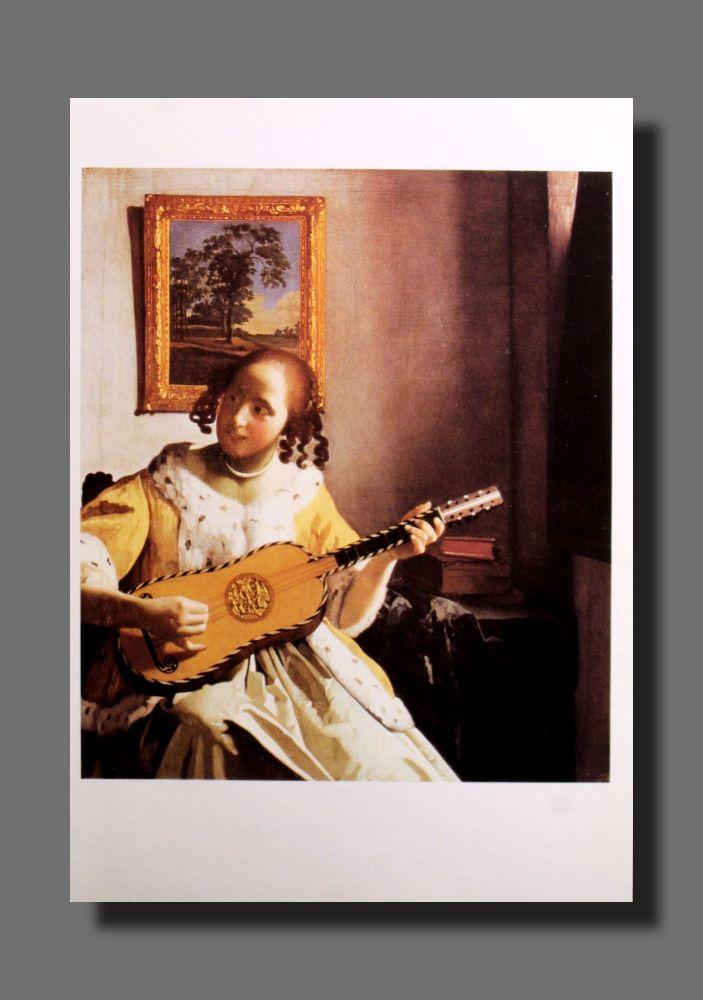 Jan Vermeer - Gitarrenspielerin - Postkarte