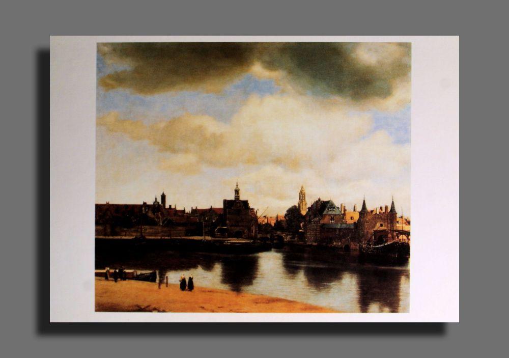 Jan Vermeer - Ansicht von Delft - Postkarte