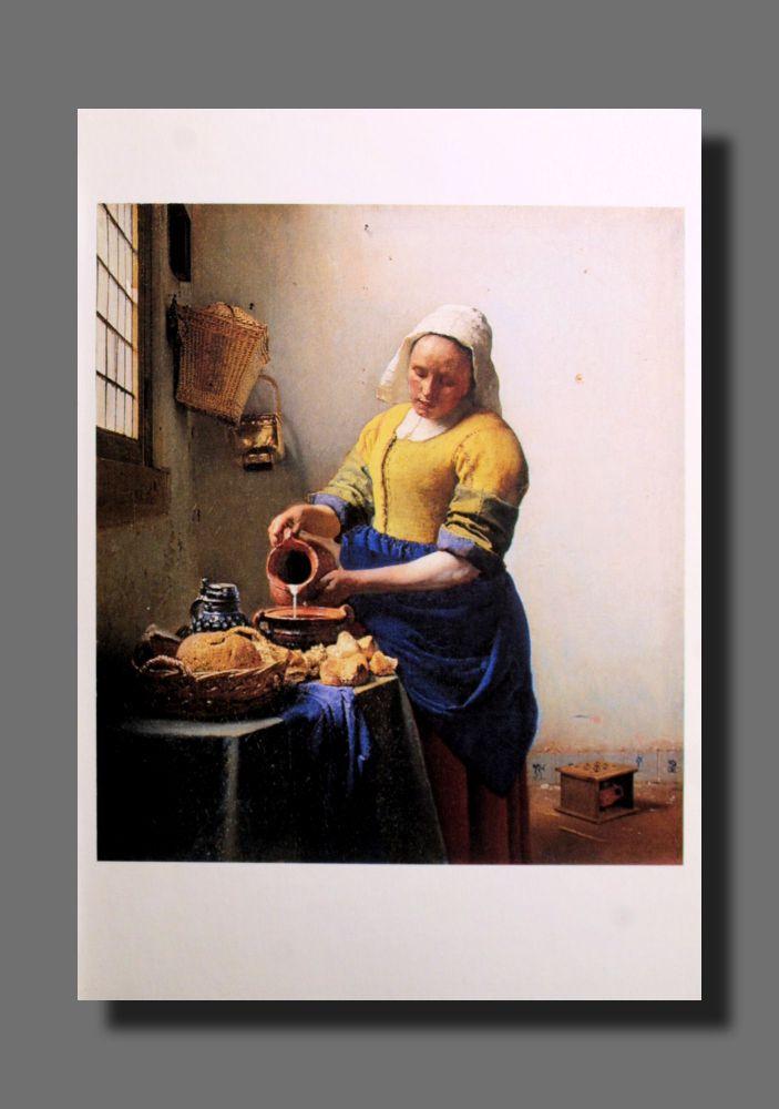 Jan Vermeer - Dienstmagd mit Milchkrug - Postkarte