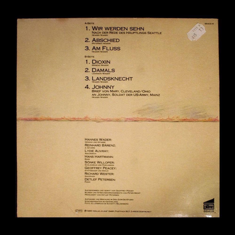 Hannes Wader - Glut am Horizont - Vinyl