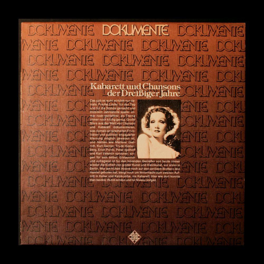 Various Artists - Kabarett und Chansons der Dreißiger Jahre - Vinyl