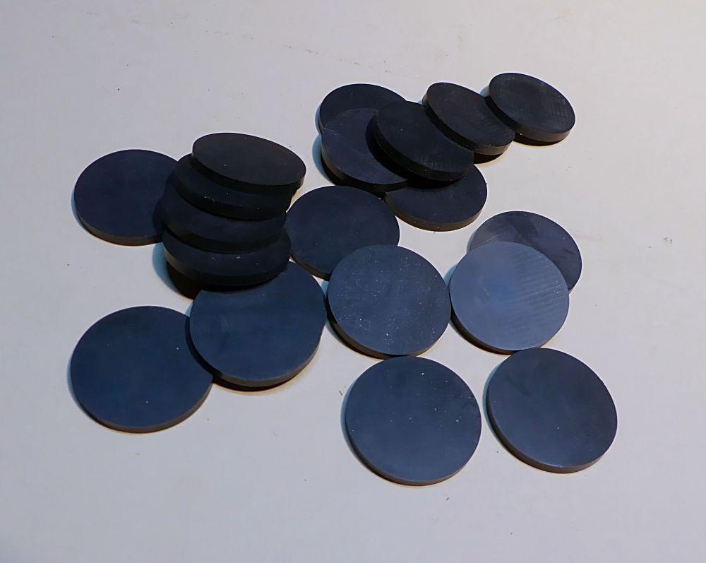 20 schwarze Ronden