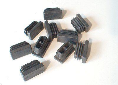 10 Lamellenstopfen 30x15 mm Kunststoff schwarz