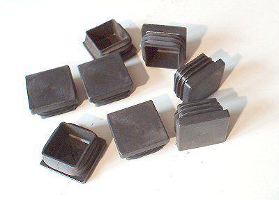 8 Lamellenstopfen 30x30 mm Kunststoff schwarz