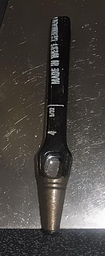 Locheisen Durchmeser 4 mm 5/32 Zoll