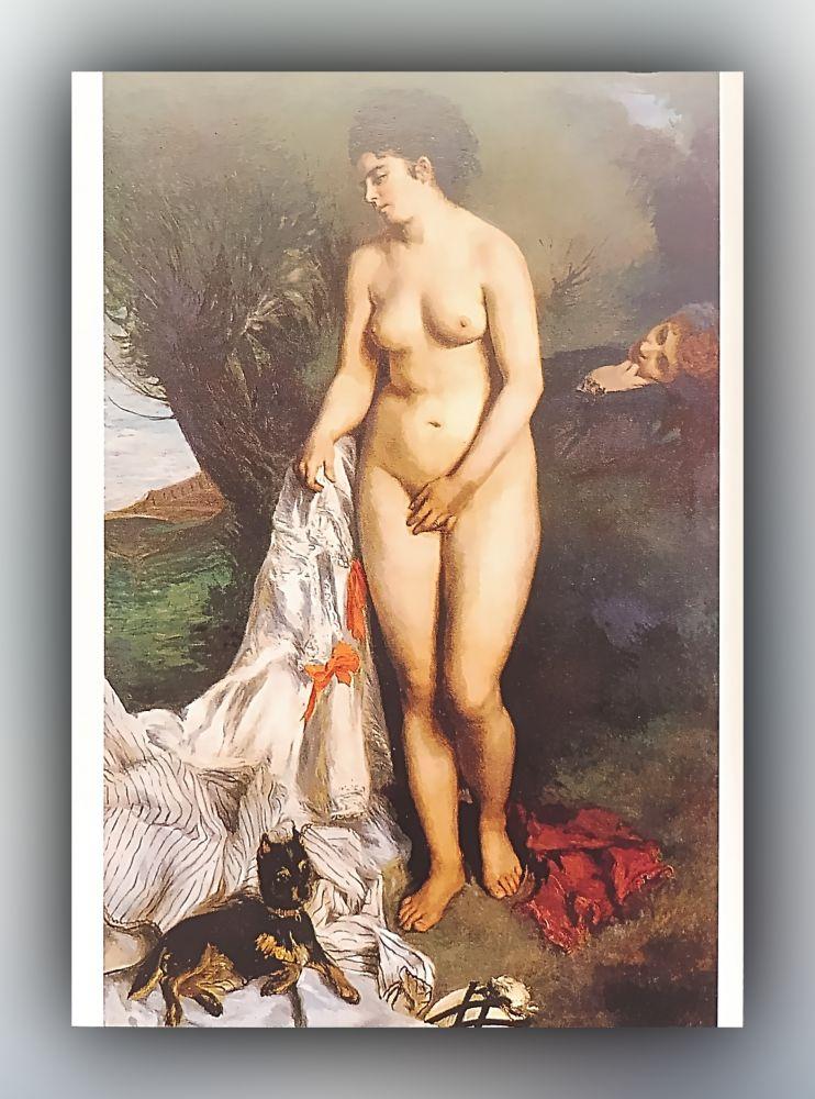 Pierre-Auguste Renoir - Badende mit Hündchen - Postkarte