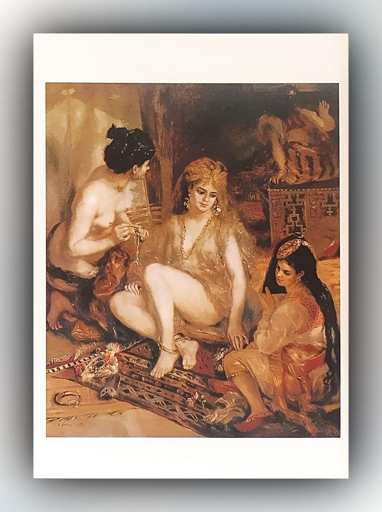 Pierre-Auguste Renoir - Pariserinnen in algerischer Kleidung oder In einem Harem in Mont-matre - Postkarte