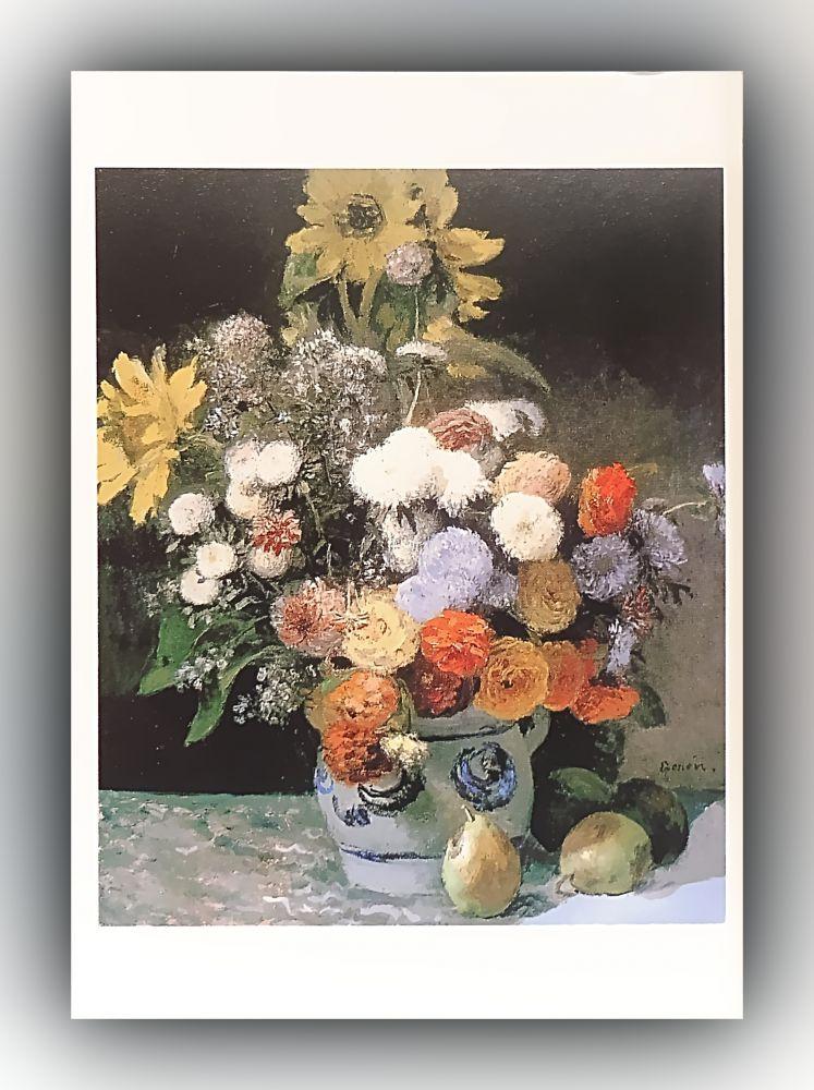 Pierre-Auguste Renoir - Blumen in einer Vase - Postkarte