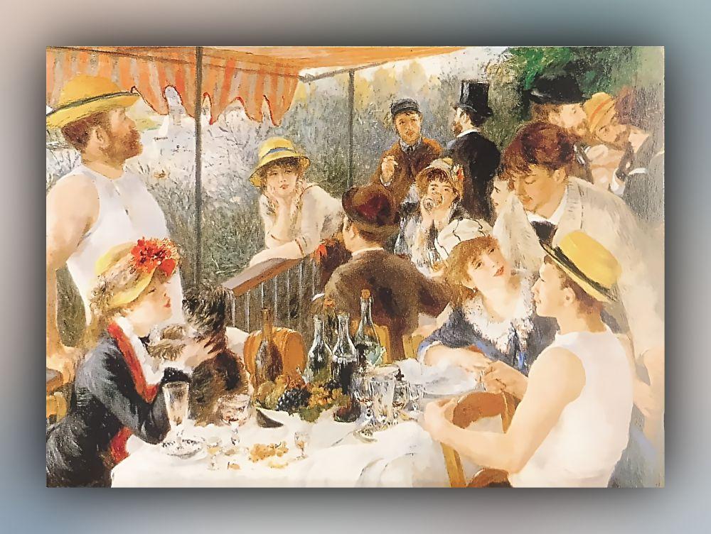 Pierre-Auguste Renoir - Das Frühstück der Ruderer - Postkarte