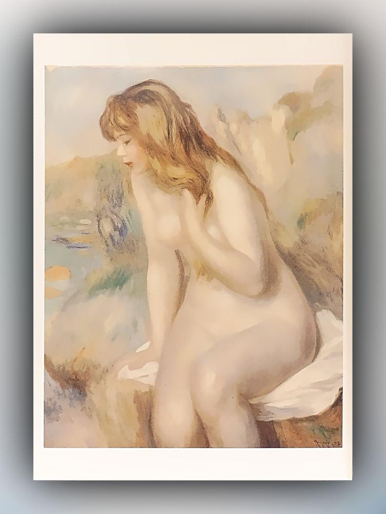 Pierre-Auguste Renoir - Badende - Postkarte