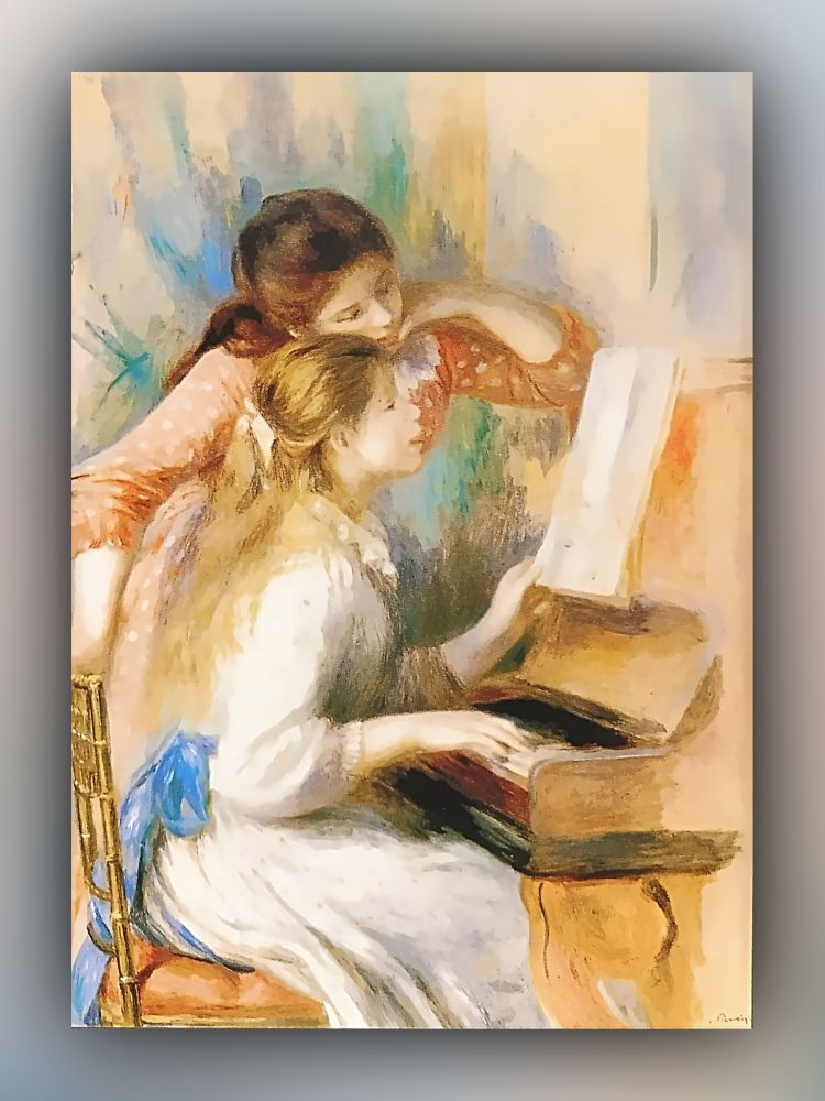 Pierre-Auguste Renoir - Junge Mädchen am Klavier - Postkarte