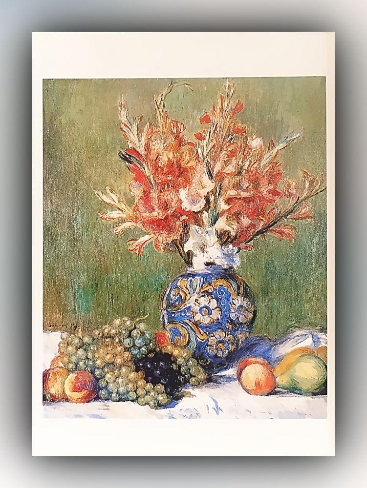 Pierre-Auguste Renoir - Blumen und Früchte - Postkarte