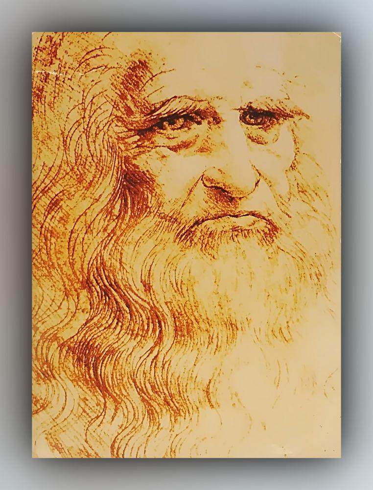 Leonardo da Vinci - Autoportrait de Léonard - Postkarte