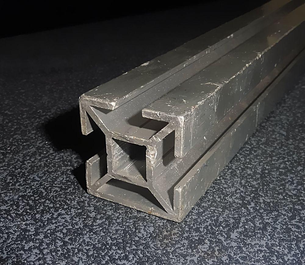 3 x Aluminium Vierkantprofil mit Schraubennuten