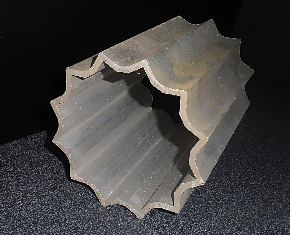 Aluminium Rohr in Sternform