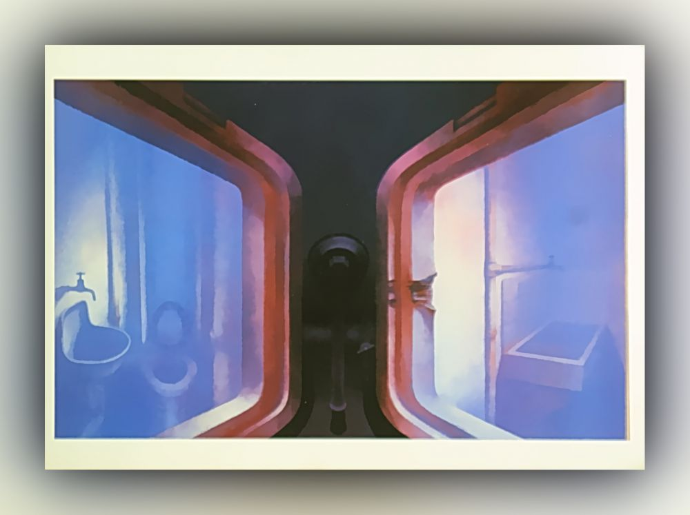 H. R. Giger - No. 125, Passages, Tryptichon - Postkarte