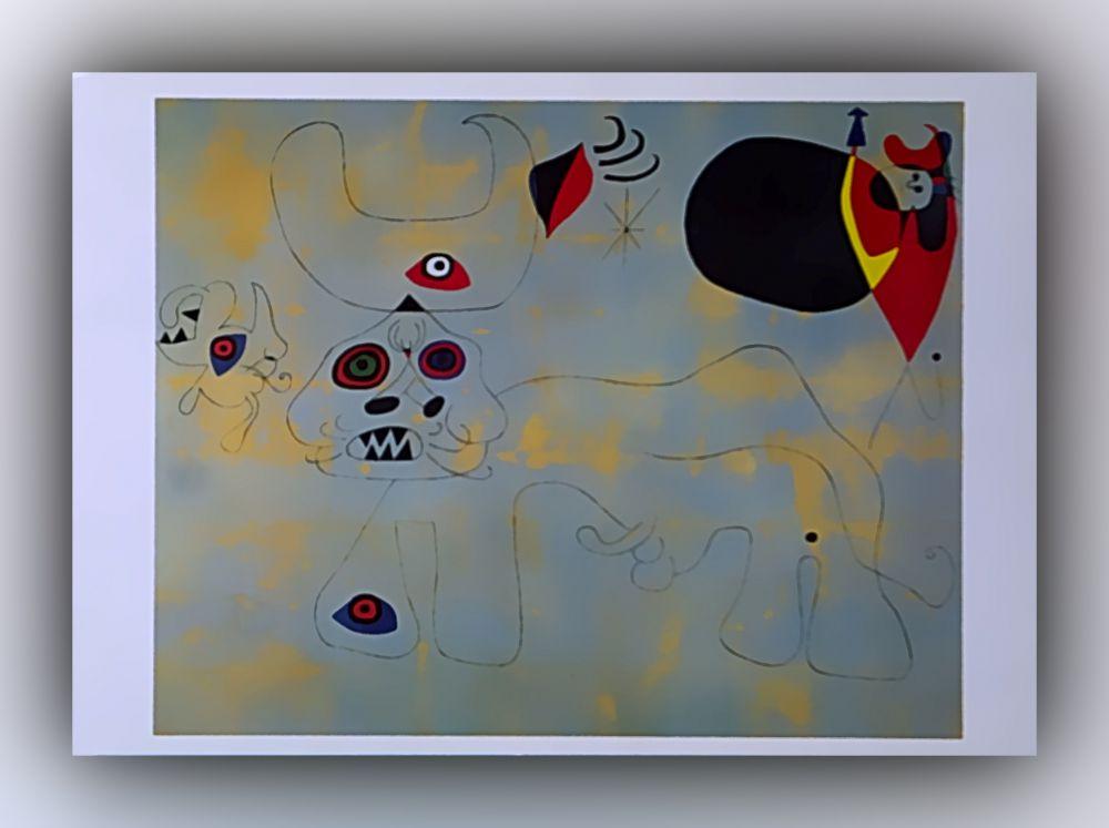 Joan Miró - Der Stierkampf - Postkarte