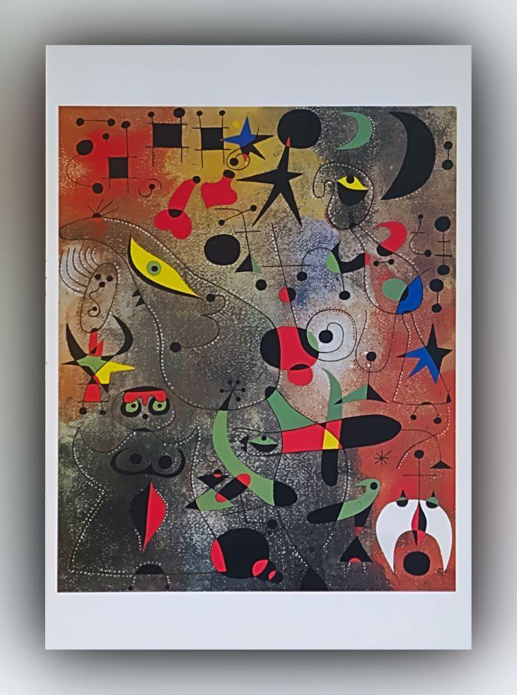 Joan Miró - Erwachen im Morgengrauen - Postkarte