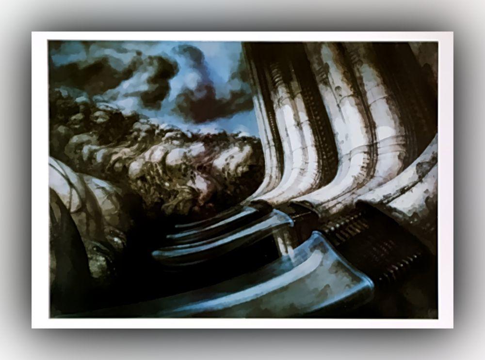 H. R. Giger - No. 417, Biomechonoid Landscape II - Postkarte