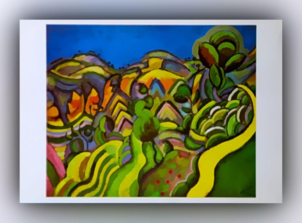 Joan Miró - Chiurana, der Pfad - Postkarte