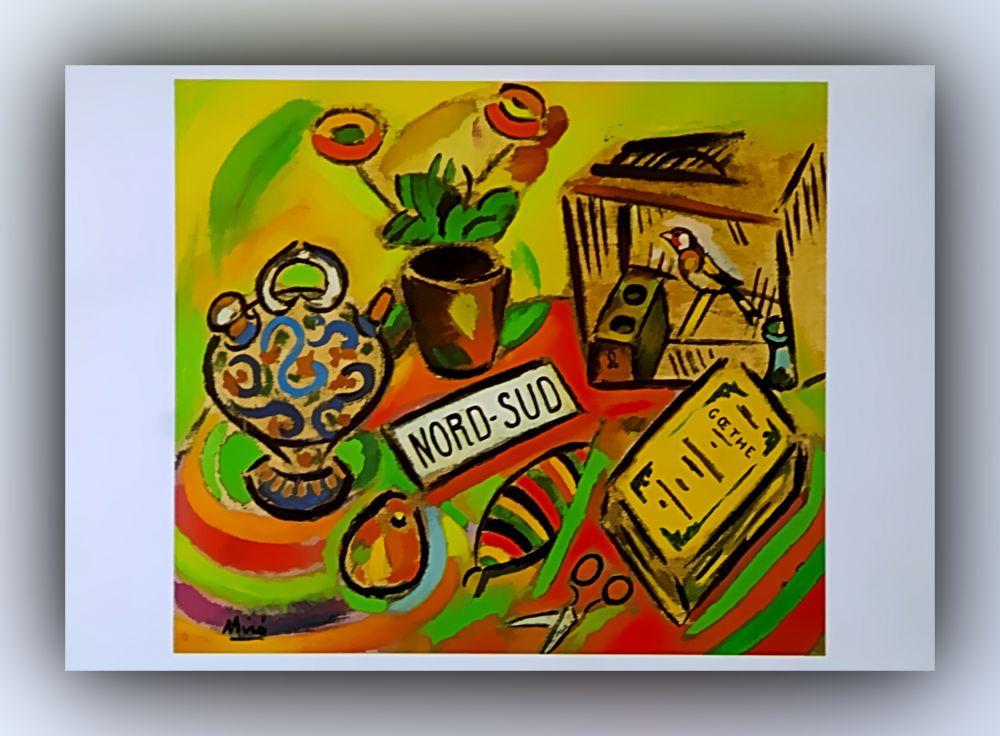 Joan Miró - Nord-Süd - Postkarte