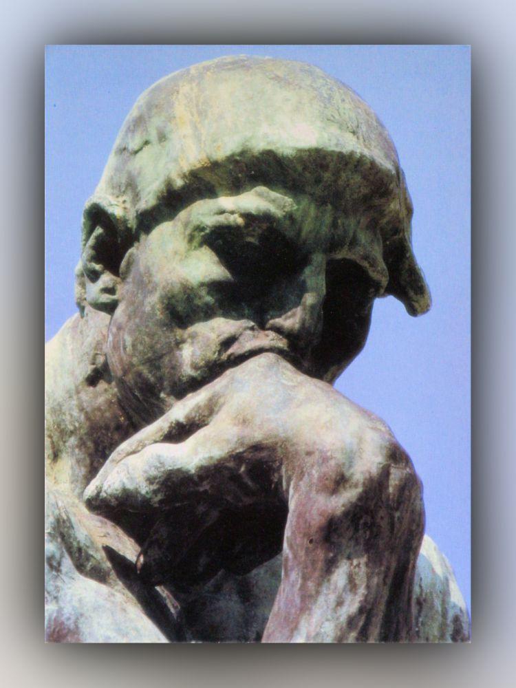 Auguste Rodin - Der Denker (Detail) - Postkarte