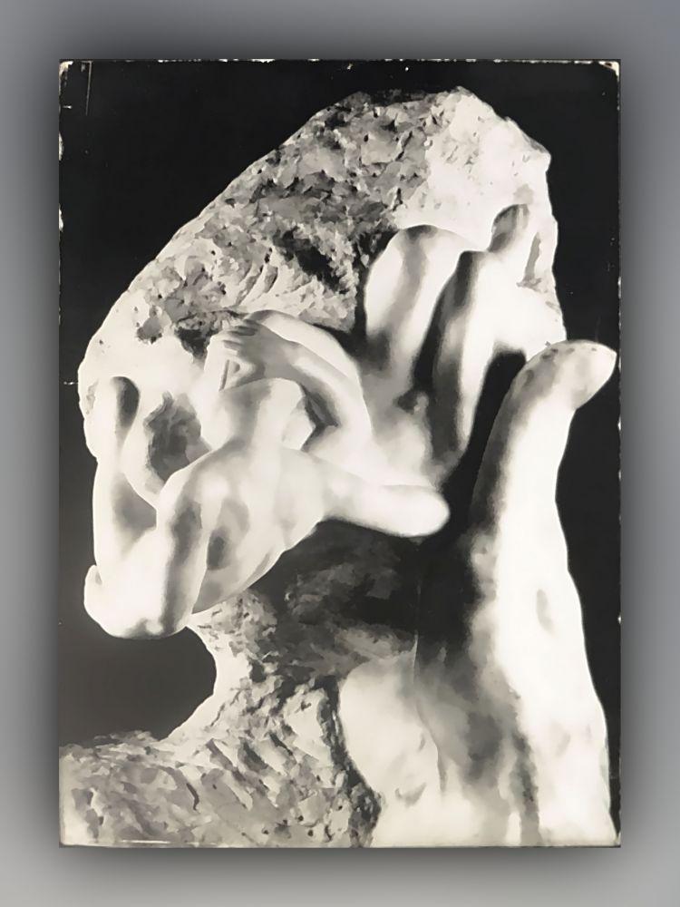Auguste Rodin - La Main de Dieu, couple, 1898, mabre - Postkarte