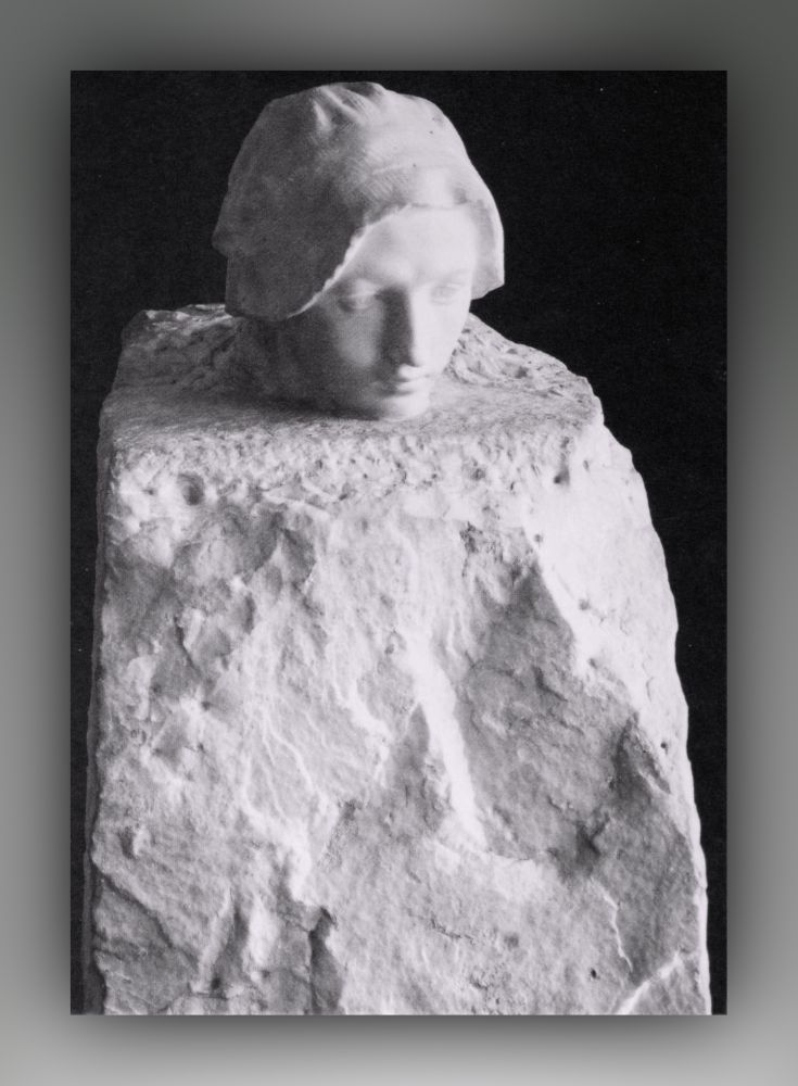 Auguste Rodin - Der Gedanke (Portrait Camille Claudel) - Postkarte
