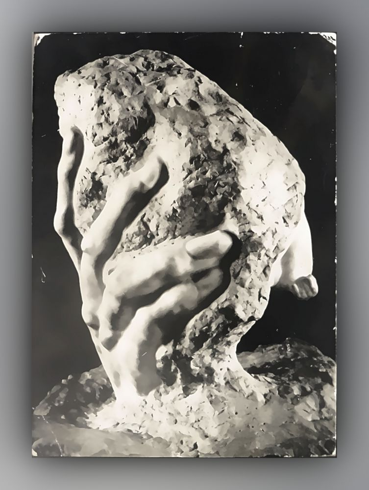 Auguste Rodin - La Main de Dieu, dos, 1886, marbre - Postkarte