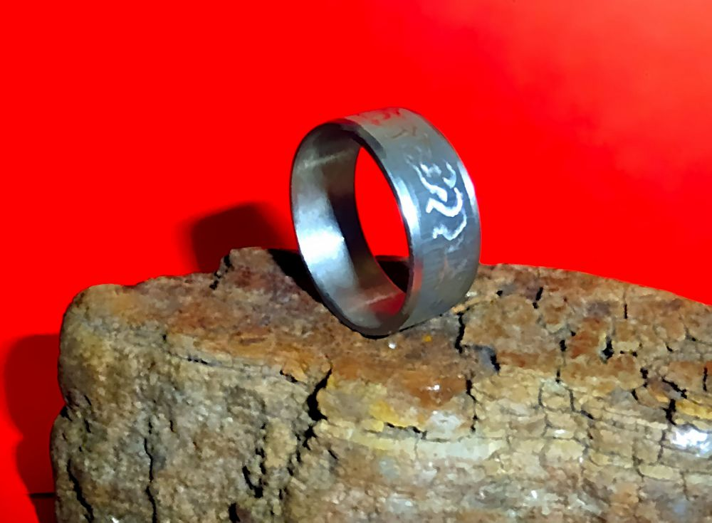 Edelstahl Ring Ø 19 x 8 mm Tribal