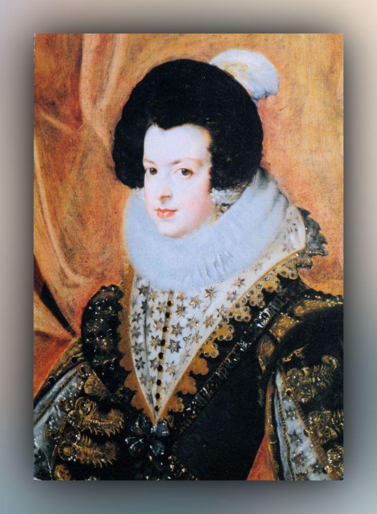 Diego Velázquez - Isabella von Bourbon - Postkarte