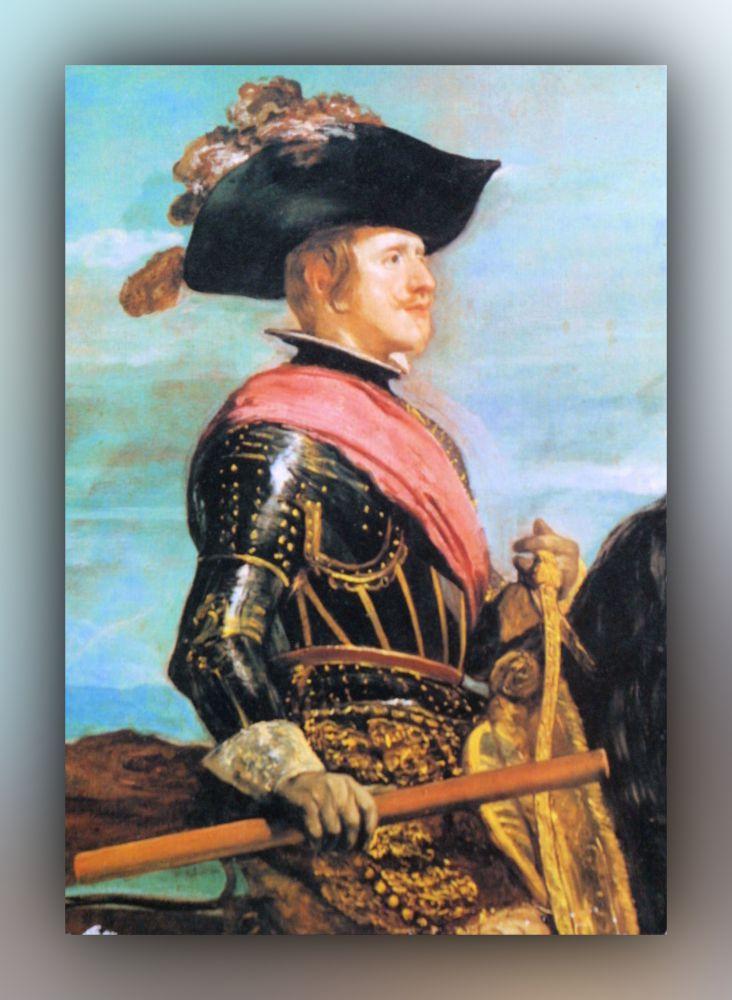 Diego Velázquez - Phillip IV. zu Pferde (Detail) - Postkarte