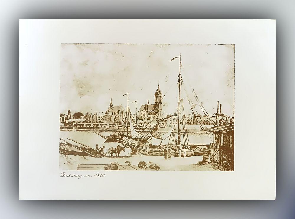 Duisburg um 1850