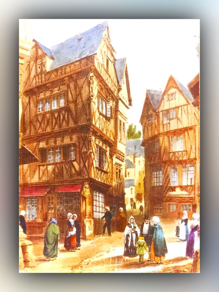 Lithographie Bretagne Ancienne LC 27 - Morlaix