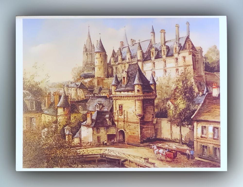Le Chateau de Loches par »Dupassant« - Postkarte