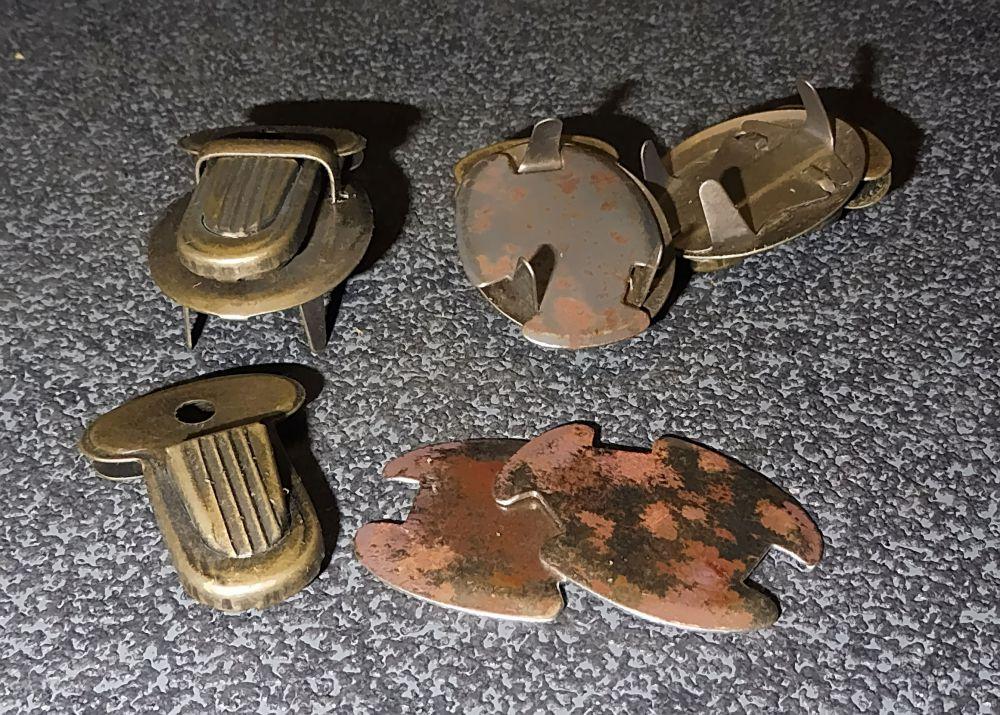 3 Stahl Schnäpper bronzefarben matt