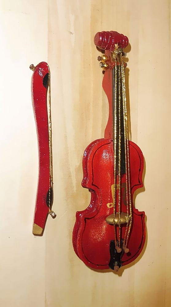 Deko-Cello mit Bogen