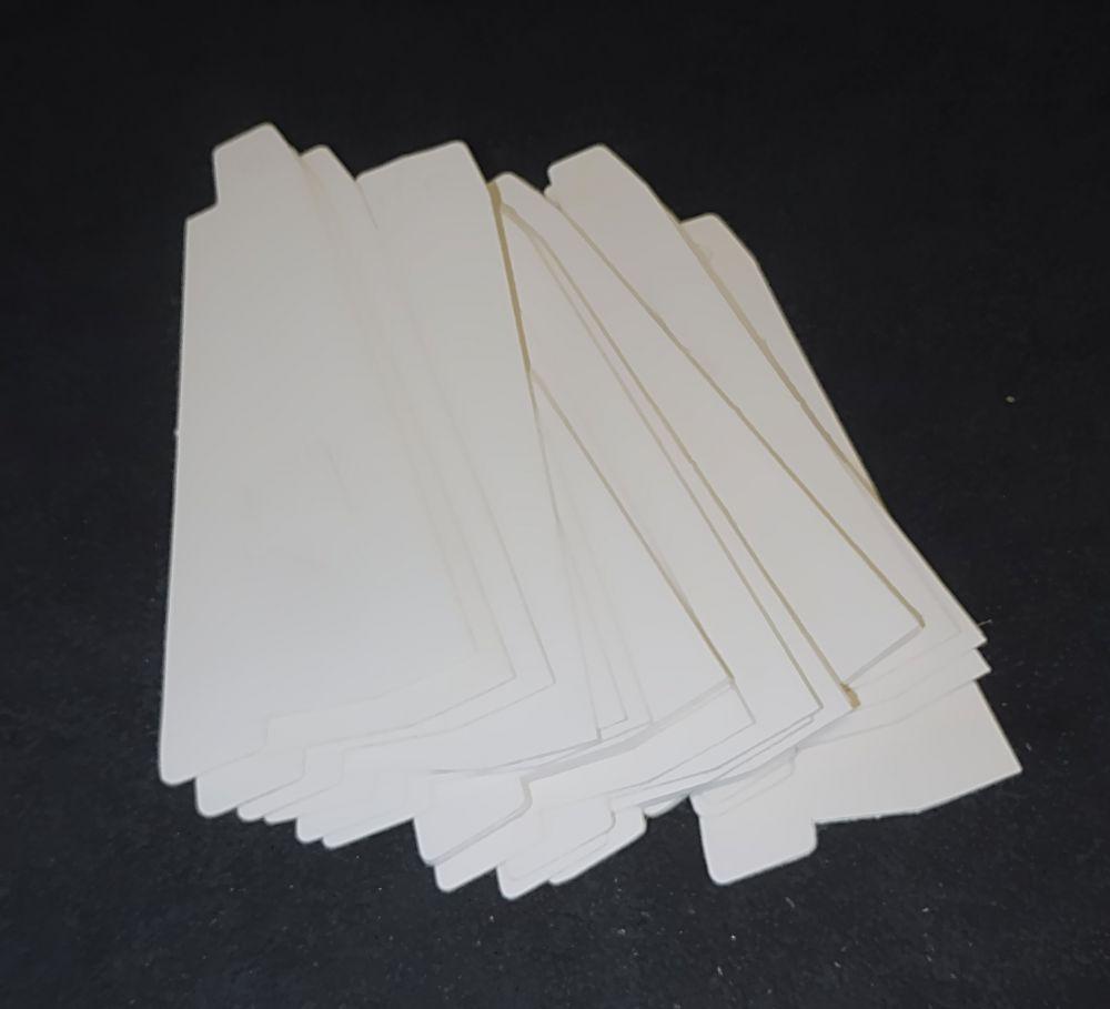 20 Plakatstützen Pappe mit Aufhänger zum Ankleben