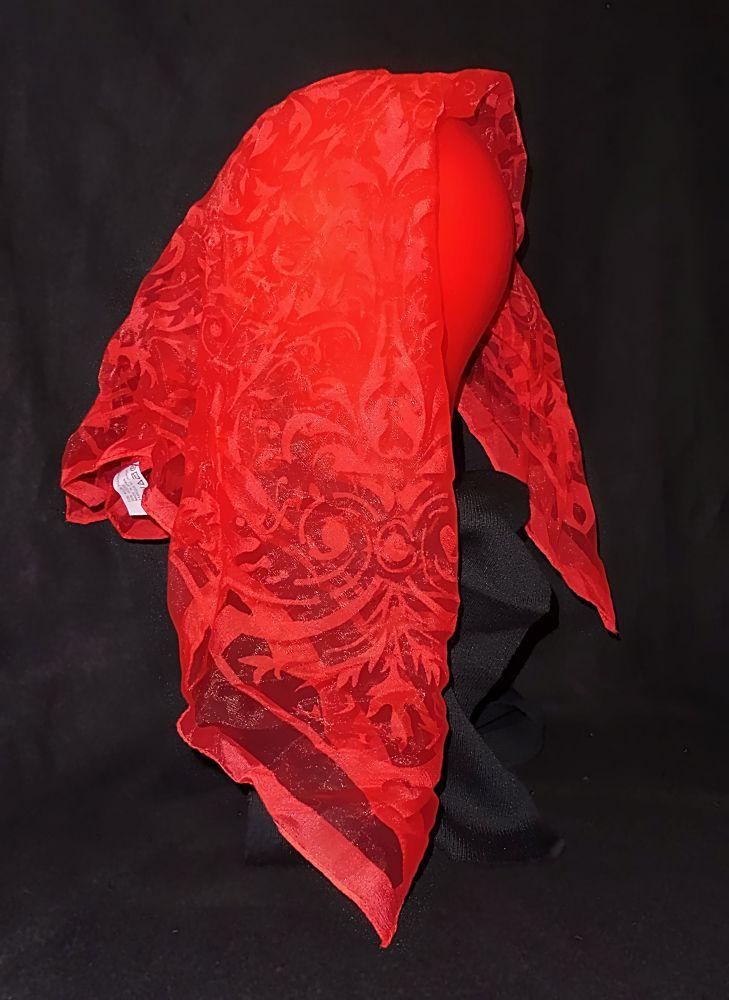 Kopftuch Halstuch Schal Schultertuch - Gaze rot