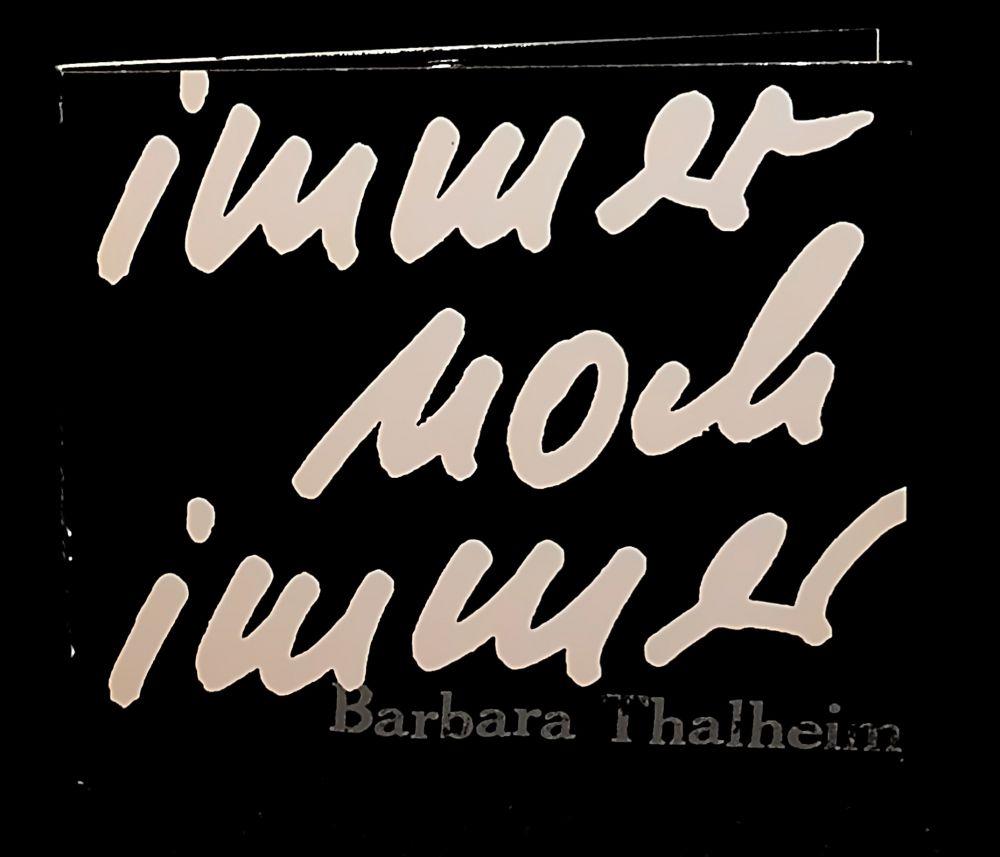 Barbara Thalheim - immer noch immer (signiert) - CD