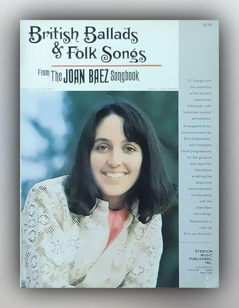 Joan Baez - British Ballads & Folk Songs - From the Joan Baez Songbook - Buch