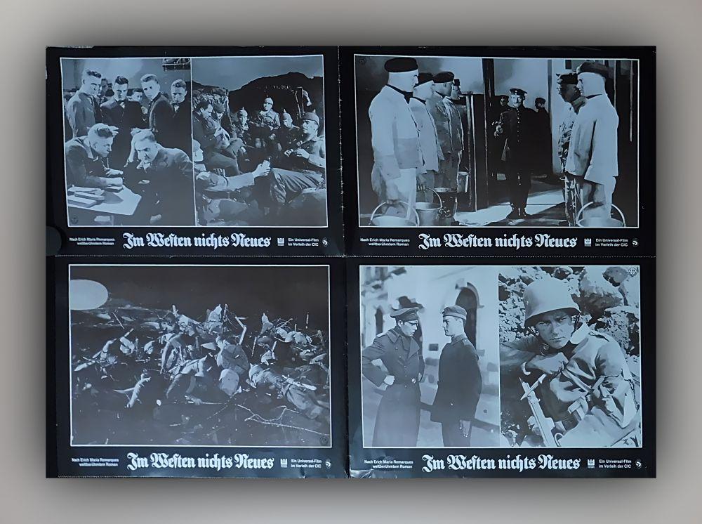8 x Kino Aushangfotos DIN A4 - Im Westen nichts Neues (Erich Maria Remarque)