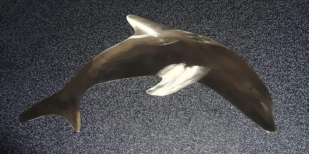 Edelstahl Delfin 28 x 17 cm