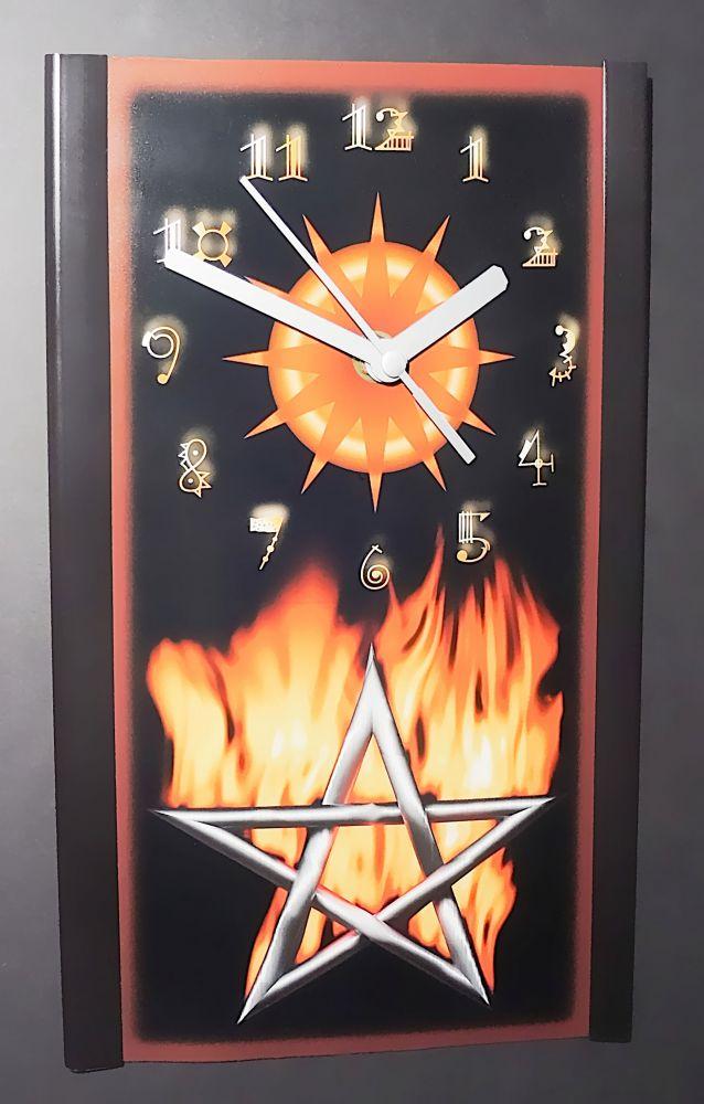 Pentagram - Fotowanduhr