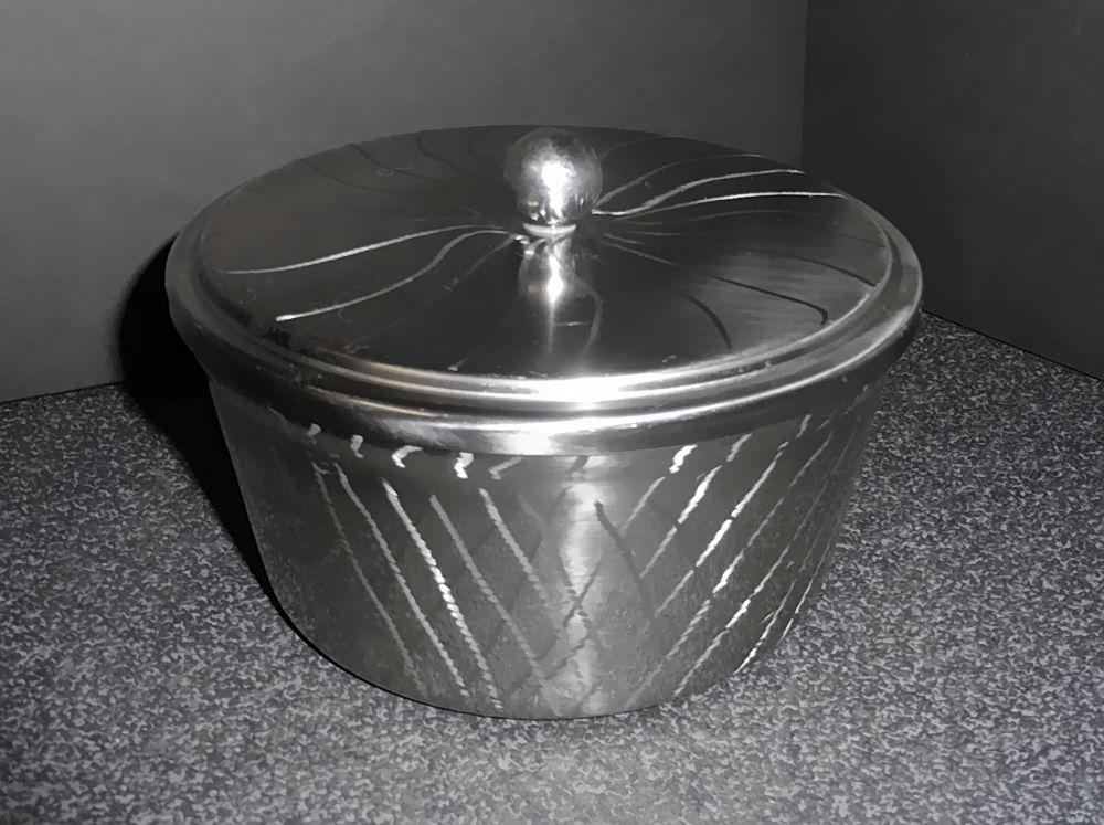 Edelstahl Dose mit Deckel für runde Margarinepackungen