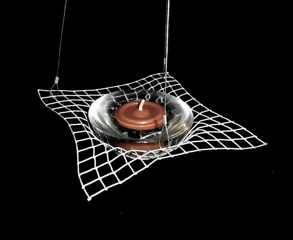 Teelicht-Hängeleuchter mit Glas-Einsatz