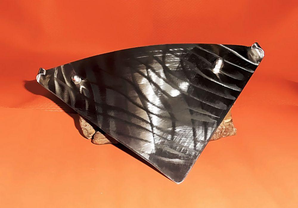 Edelstahl Haarspange 155 x 100 mm